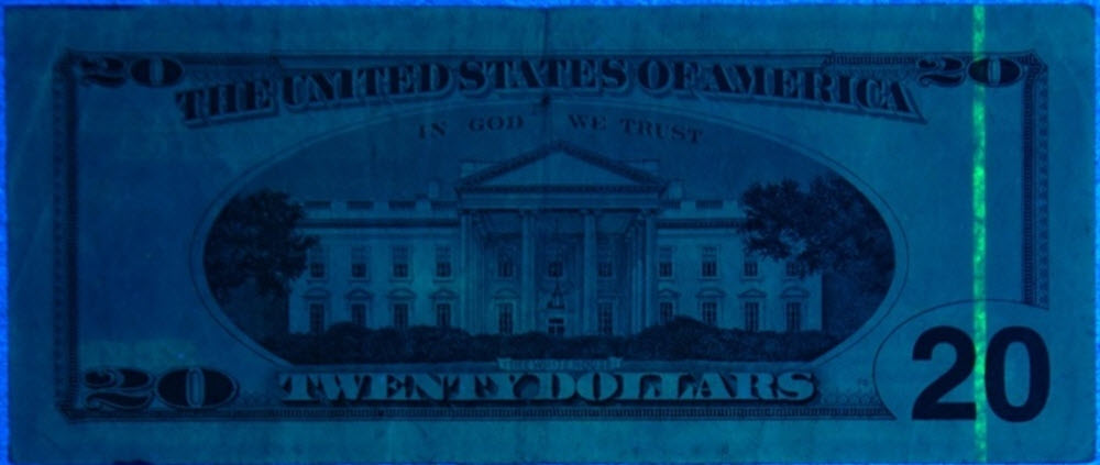Invisible ink on US bill